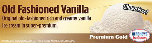 Old Fashioned Vanilla: Original old-fashioned rich and creamy vanilla ice cream in super-premium!