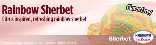 Rainbow Sherbet: Citrus inspired, refreshing rainbow sherbet!